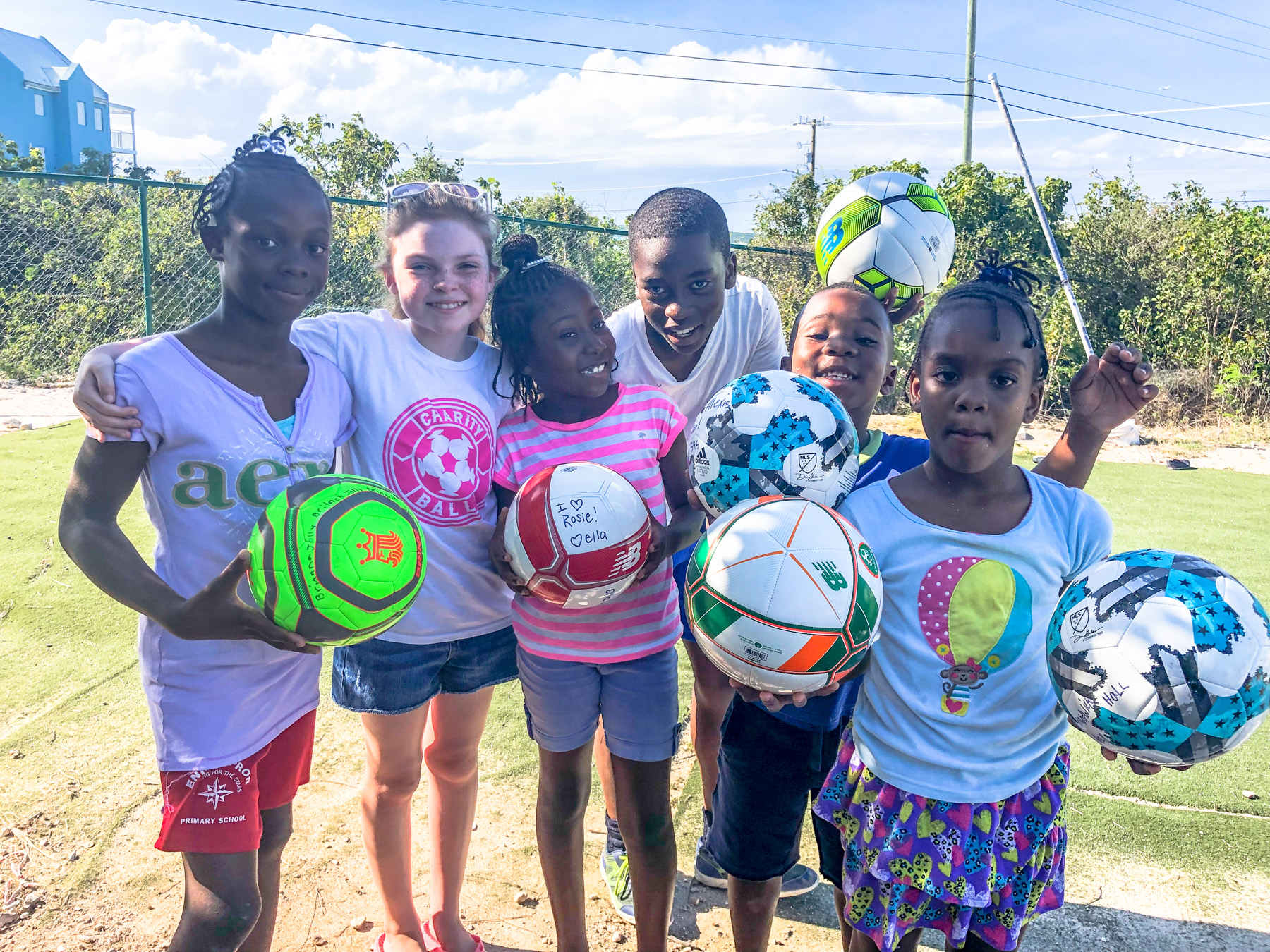 charity ball, soccer charity, ball delivery