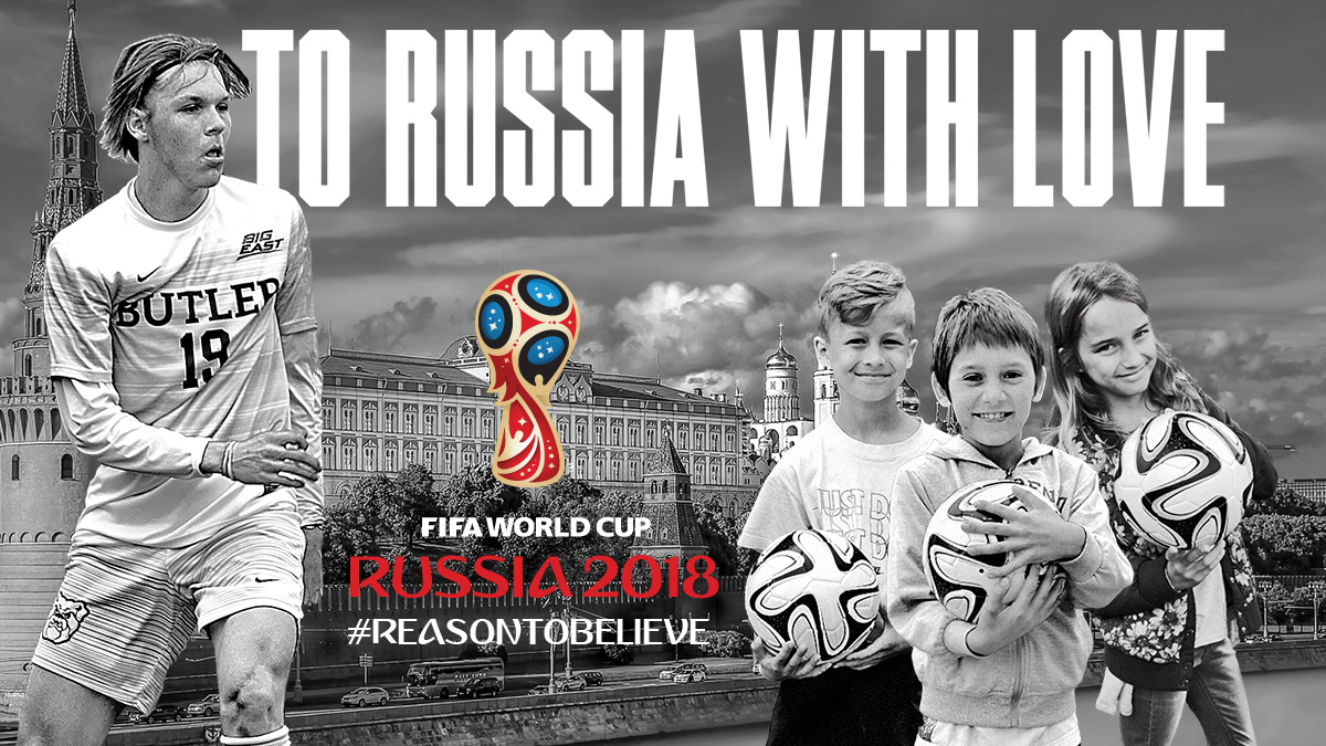 Charity Ball ball delivery in Russia for World Cup