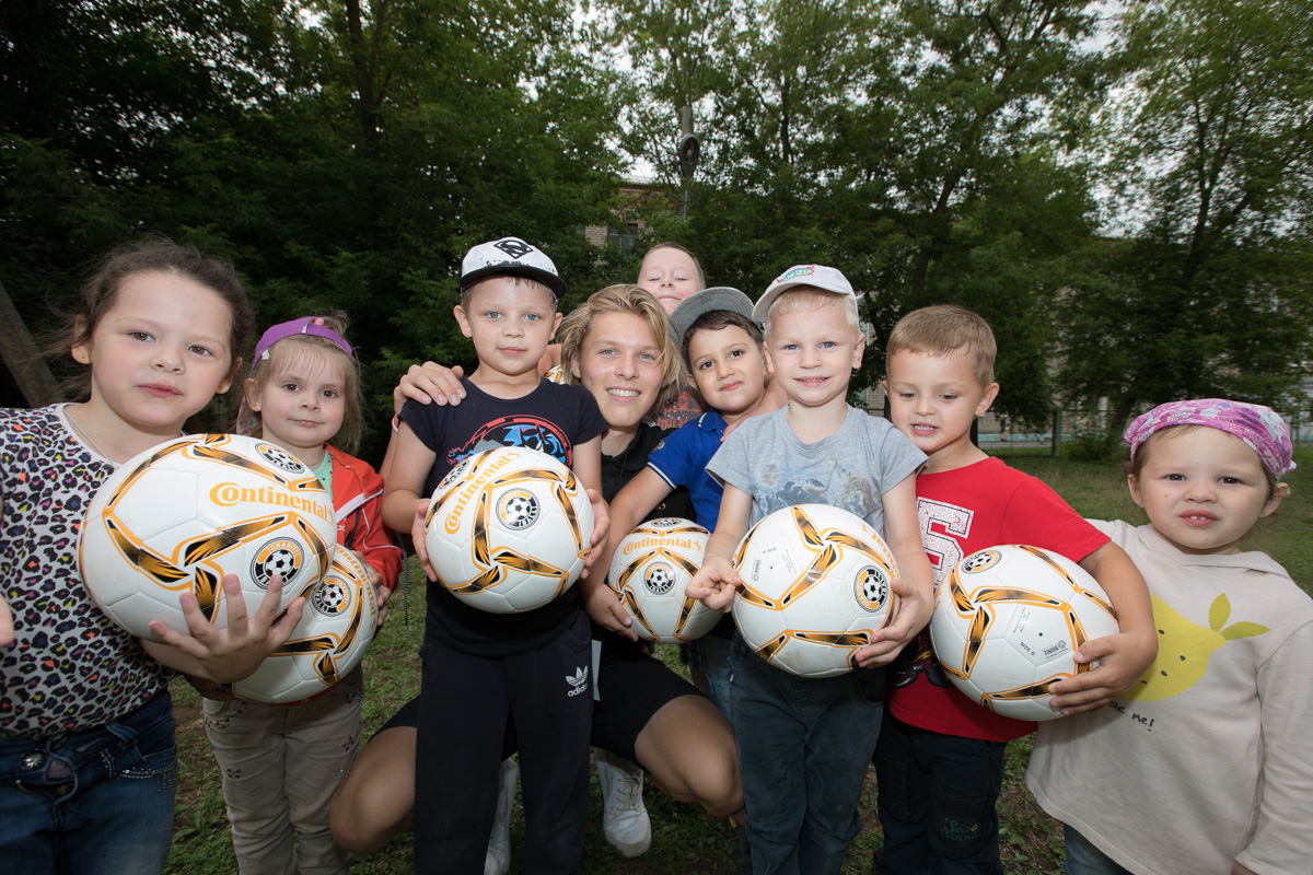 Charity Ball delivers soccer balls during the World Cup