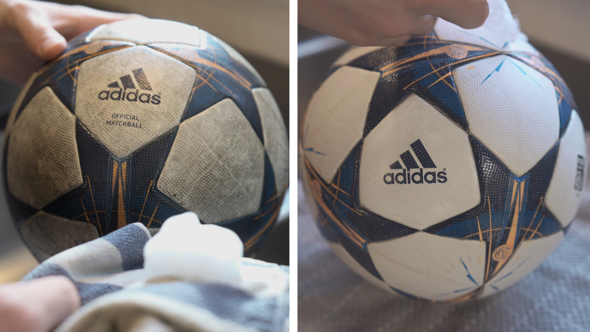 clean soccer ball